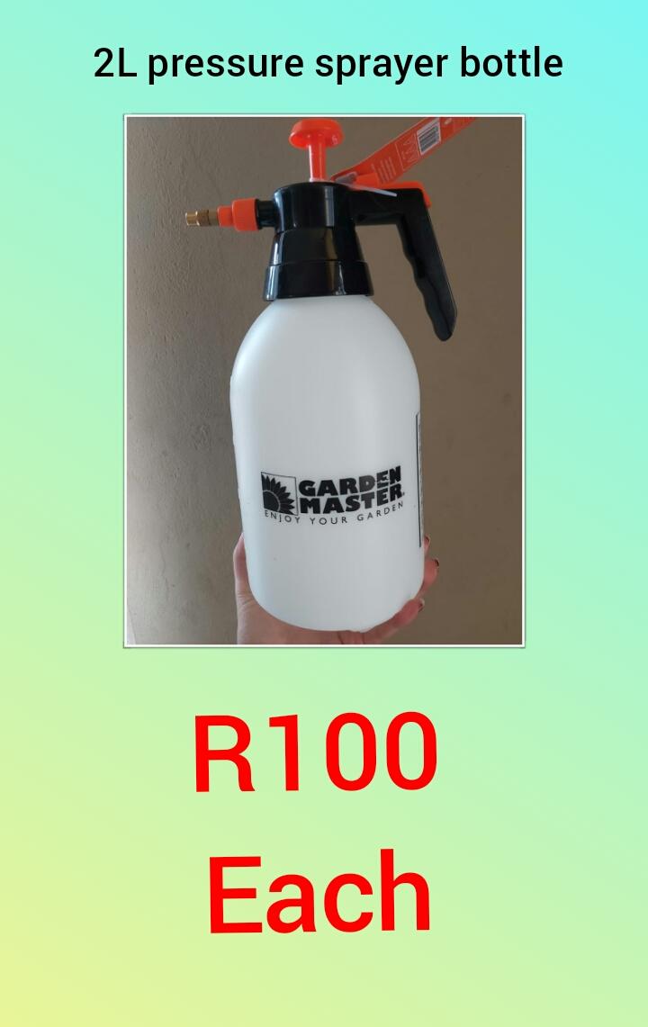 Empty trigger bottles and pressure bottles