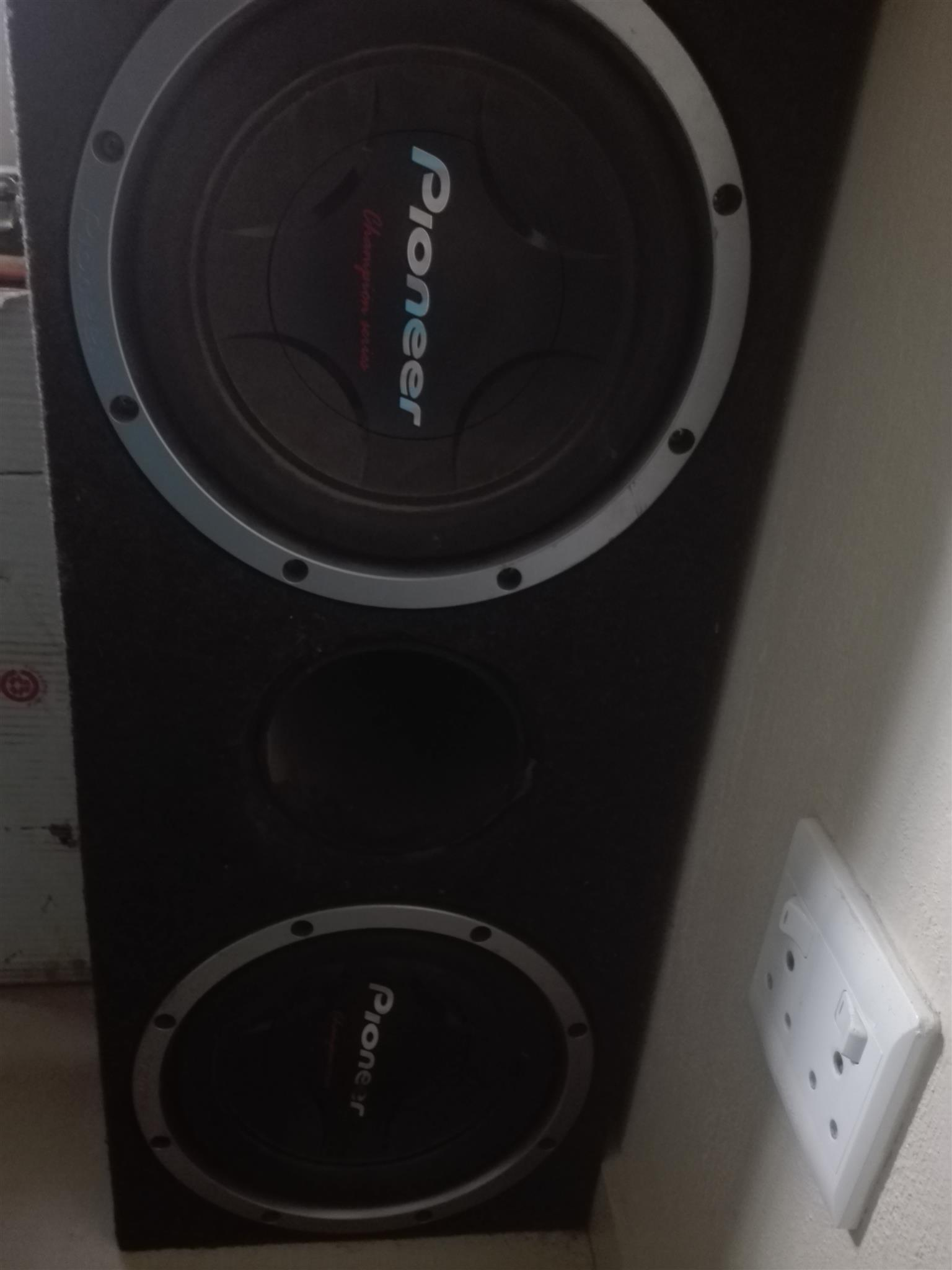 "Pioneer 12"" champion series subs for sale"