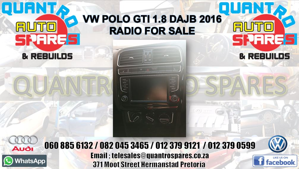 vw polo gti 1.8 2016 radio for sale