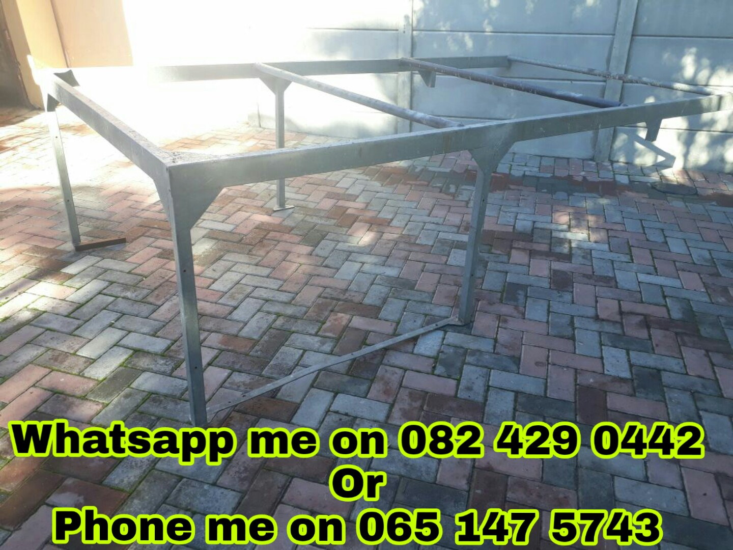 Galvanised steelframe for a bakkie (3.1 x 1.6) @R3000 negotiable