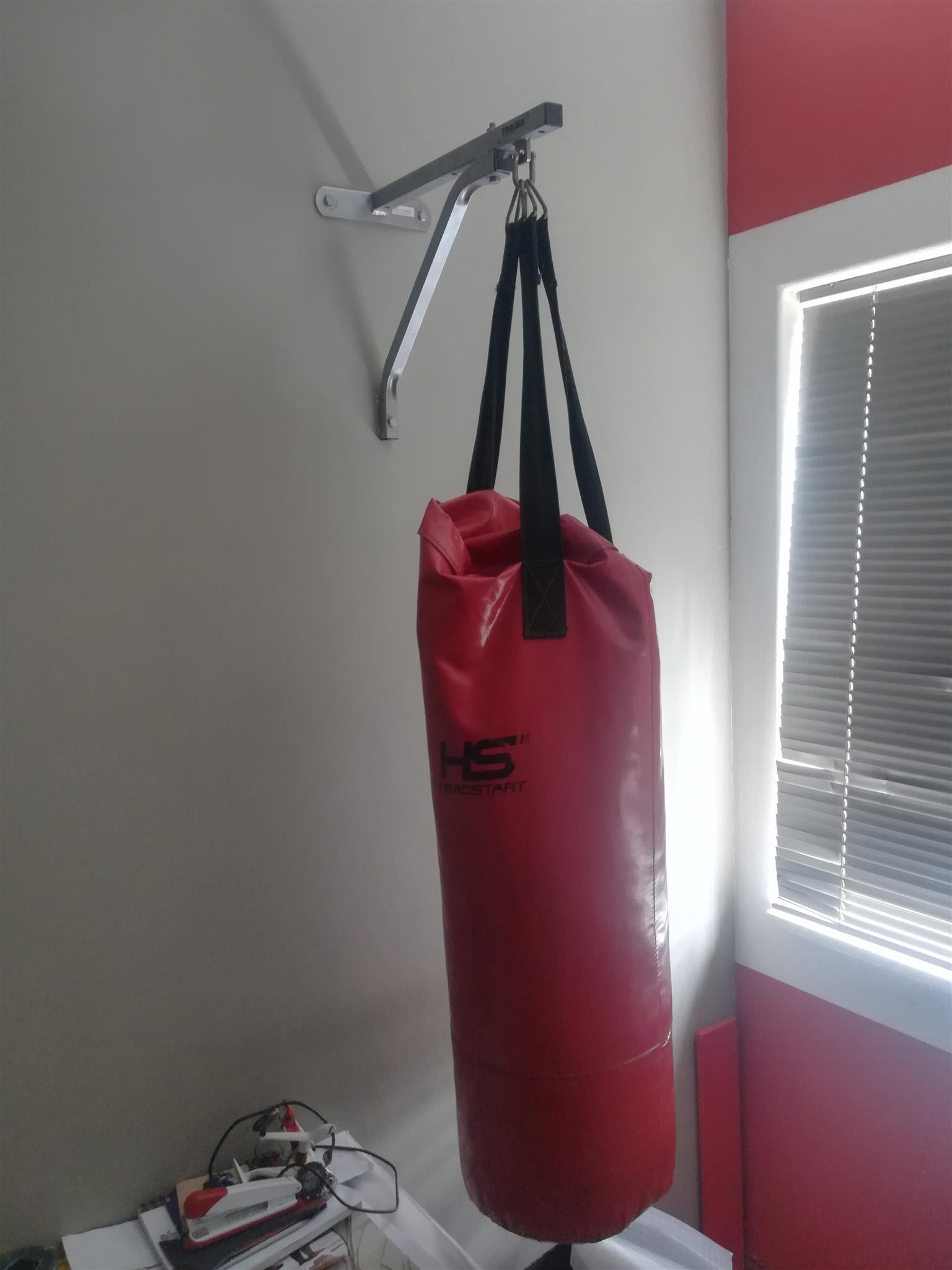 Punching bag and bracket