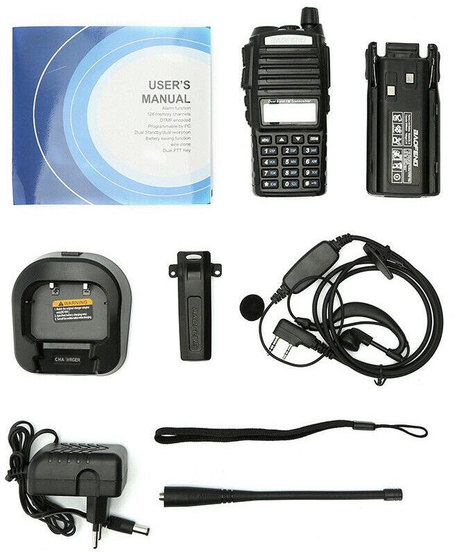 Walkie Talkie VHF UHF Dual Band Two Way Radios / Transceivers. Brand New Products