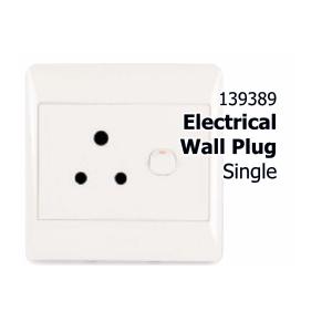 Plug : Single Wall Plug