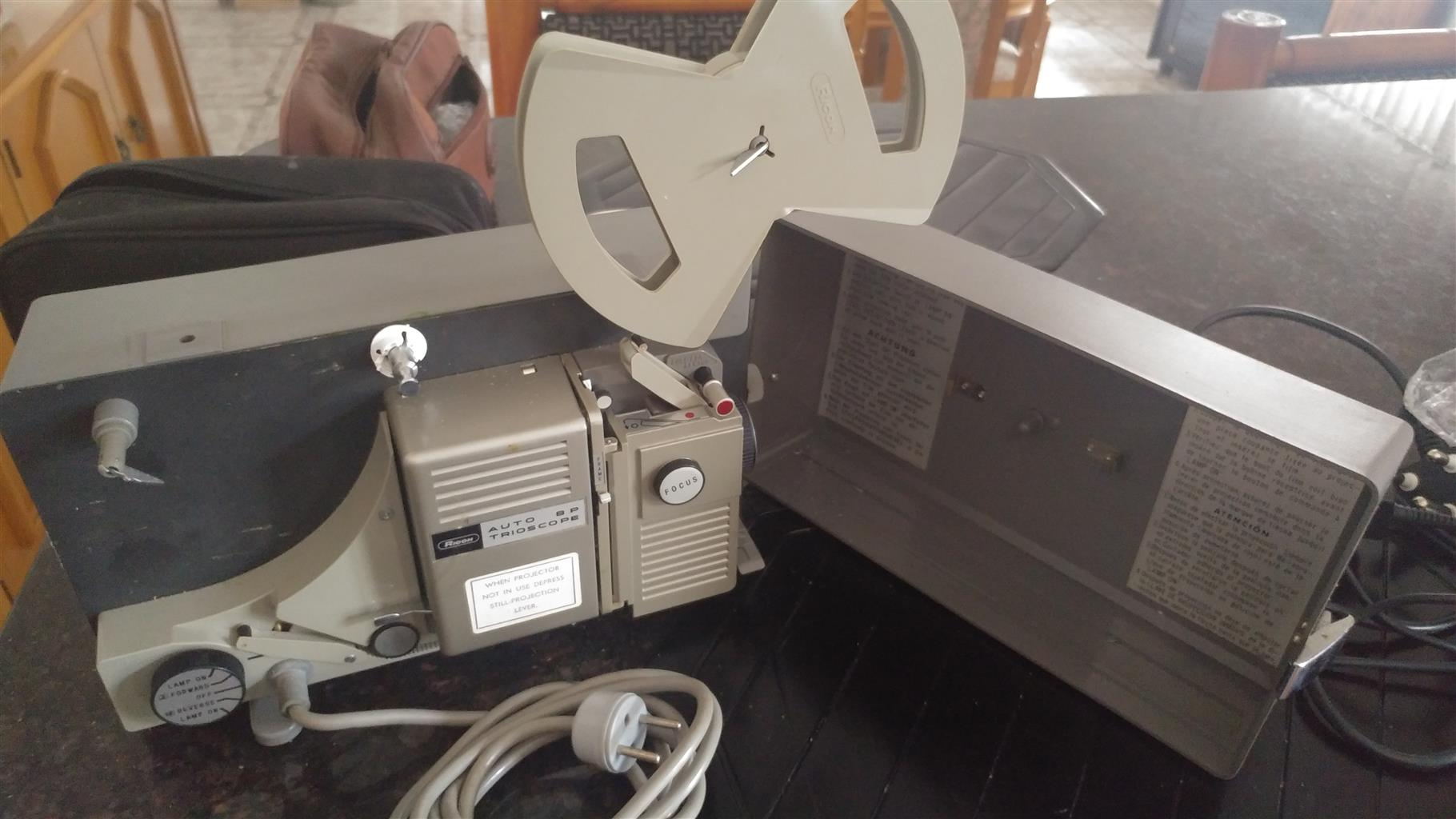 8mm Ricoh home movie projector