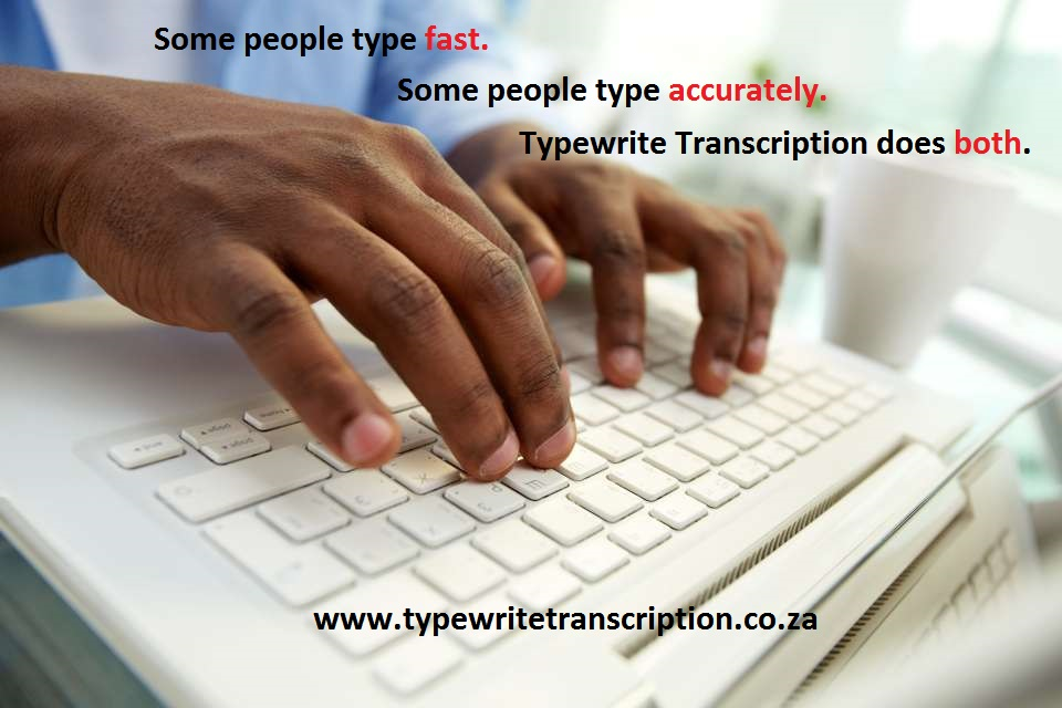 Transcription and Typing Services