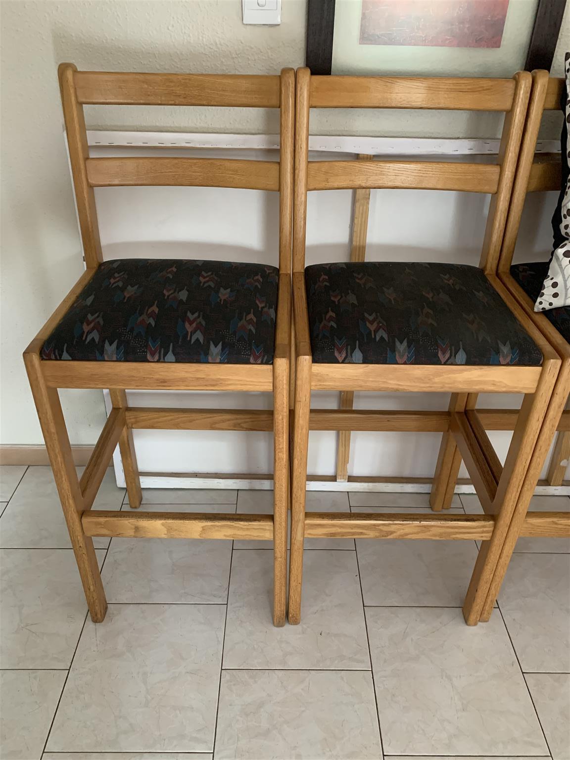 Bar oak chairs