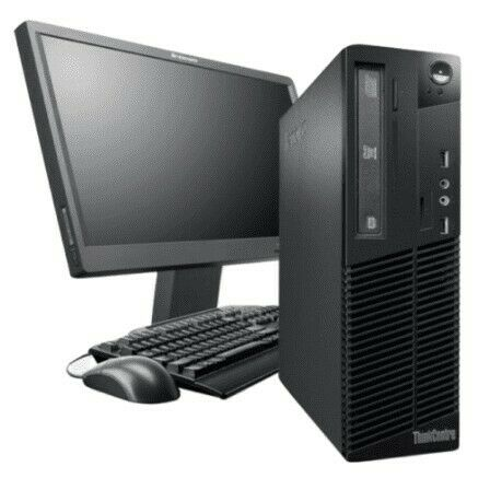 Lenovo M73 ThinkCentre Core i5 Desktop PC with SSD (Monitor, Keyboard & Mouse Included)