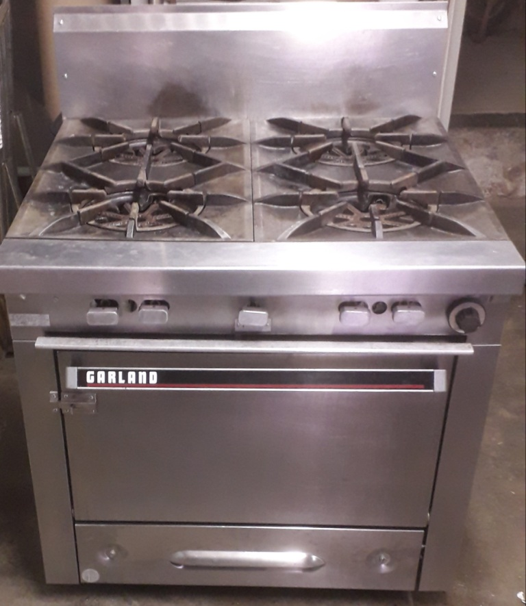 Garland commercial gas stove with gas oven - 2 available