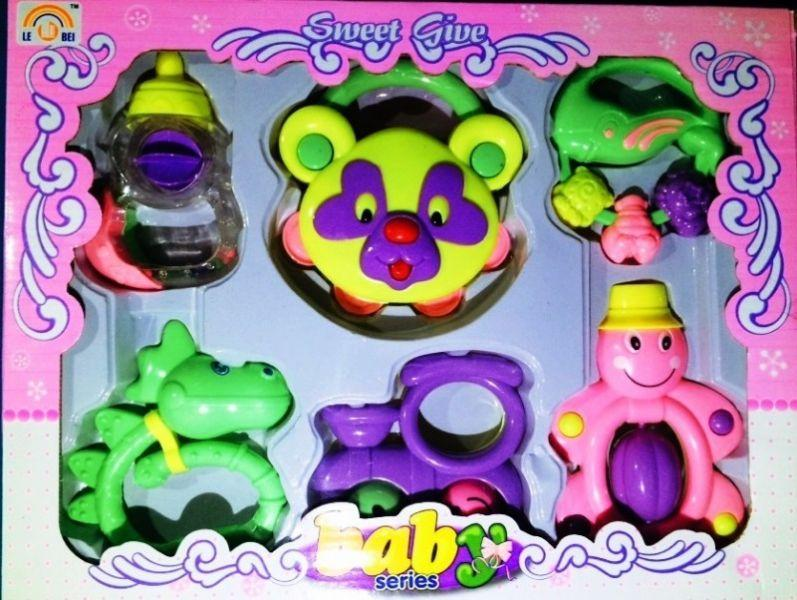 Baby rattle set  6 piece