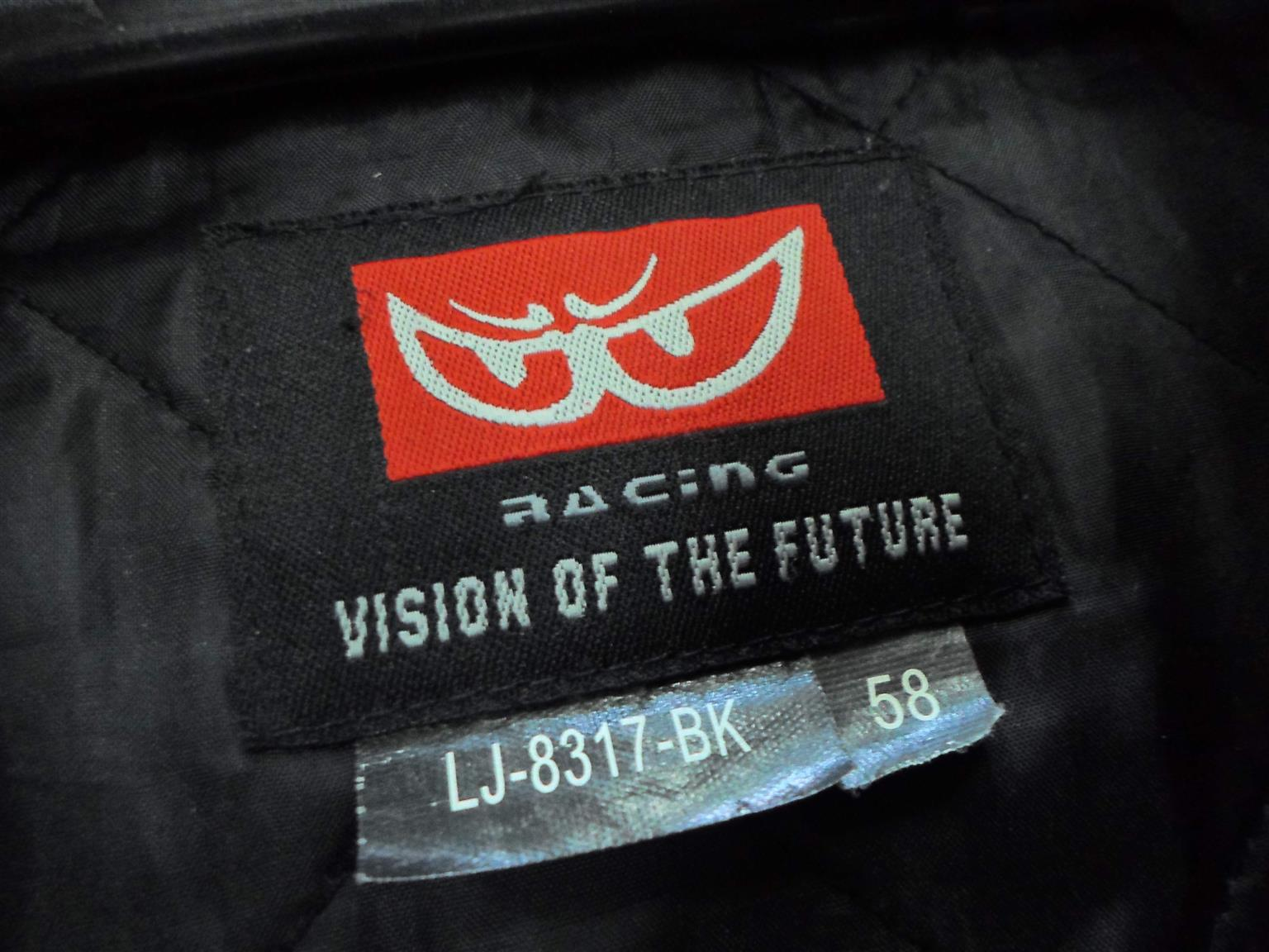 Size 58 Berik Leather Motorcycle Jacket