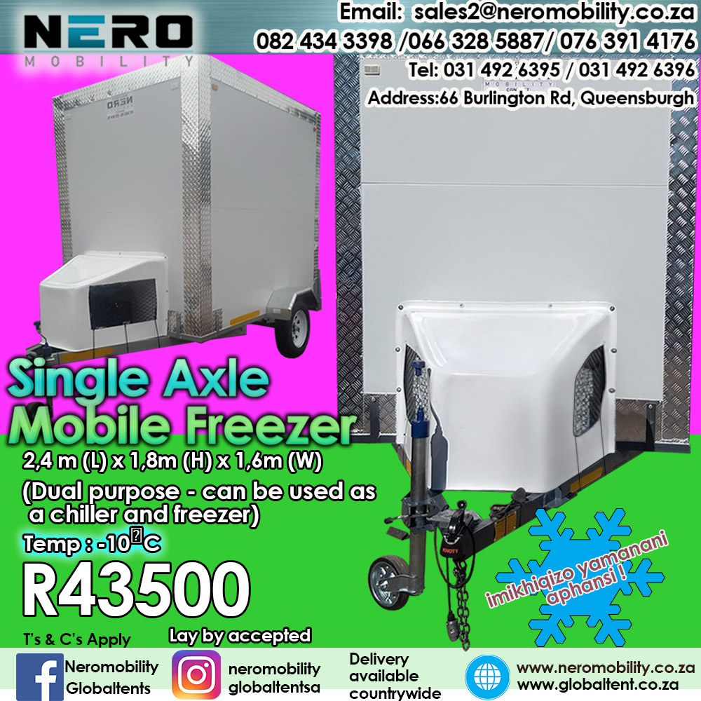 Single Axle Mobile Freezers