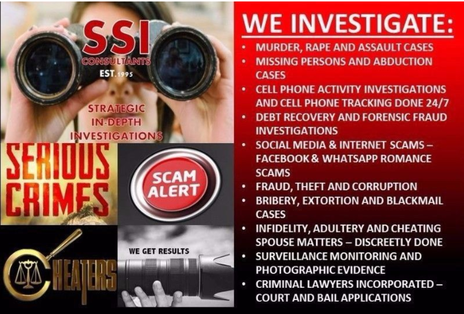 PRIVATE INVESTIGATORS IN SOUTH AFRICA WE ARE BASED NATIONWIDE