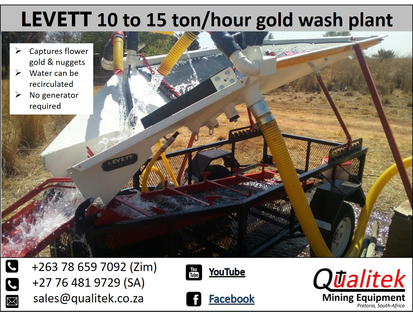 Best alluvial gold wash plant for Africa