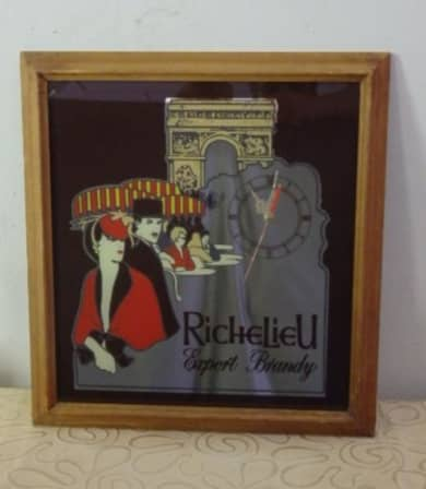 Richelieu brandy wall clock