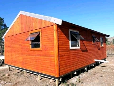 We do log cabin and Wendy house