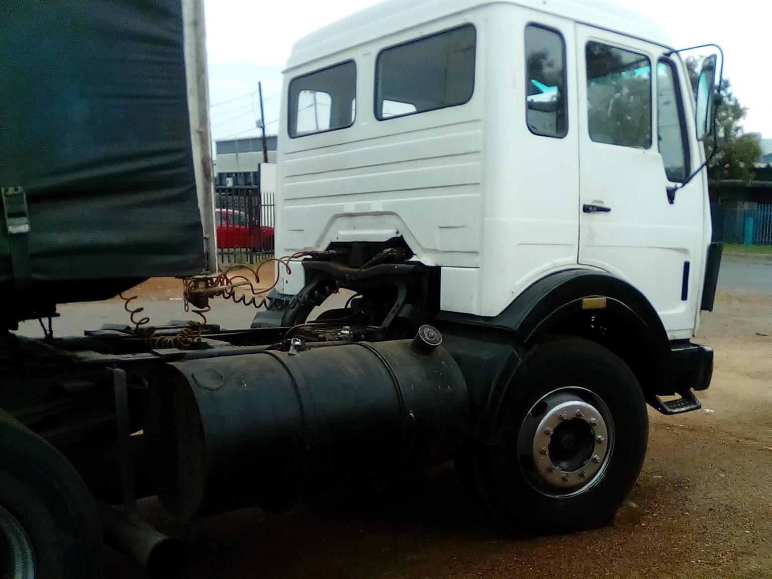 Mercedes Benz truck with trailer