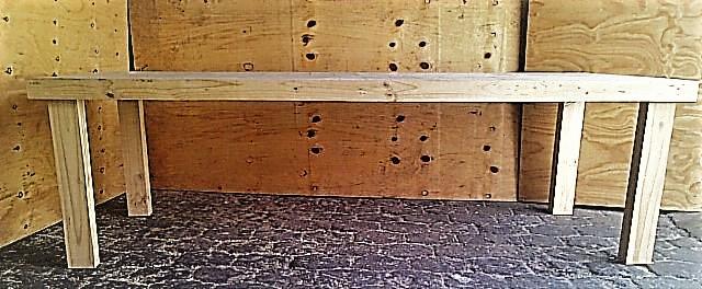 Patio table Farmhouse series 2550 - Raw