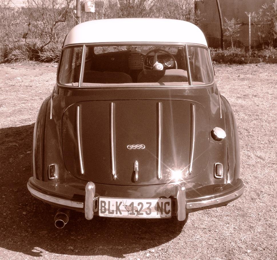 German DKW 3=6 (1955) Auto Union GmbH 2-door, coupe (rare vintage model, vehicle, classic car)