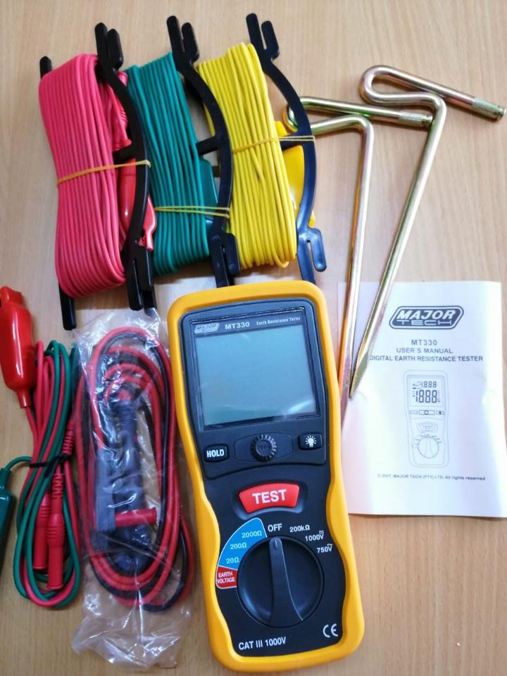 Electrical Meter: Digital Earth Resistance Tester Major Tech MT330