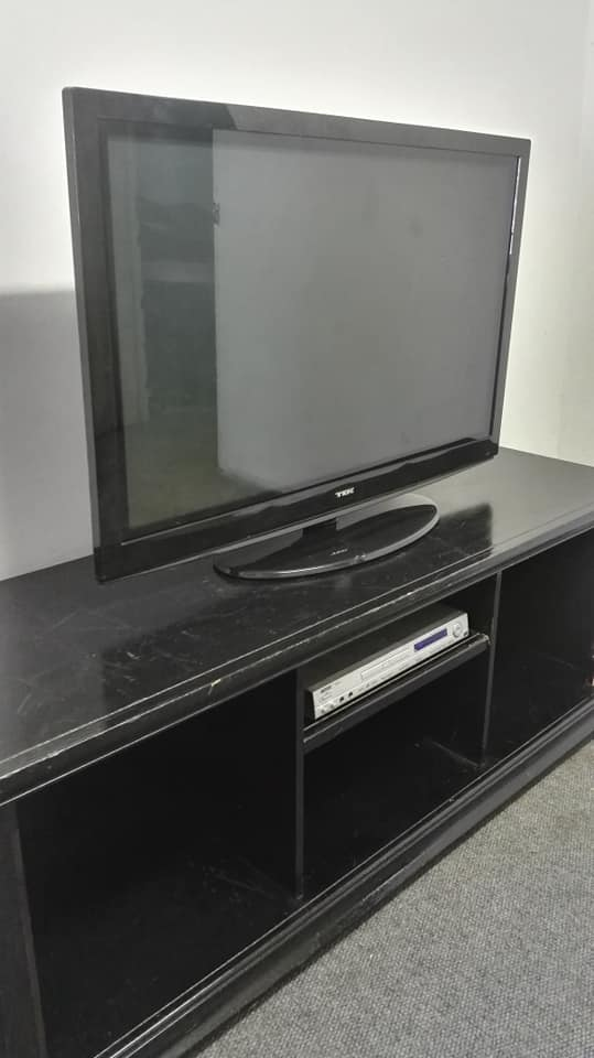 Flat screen tv and tv stand