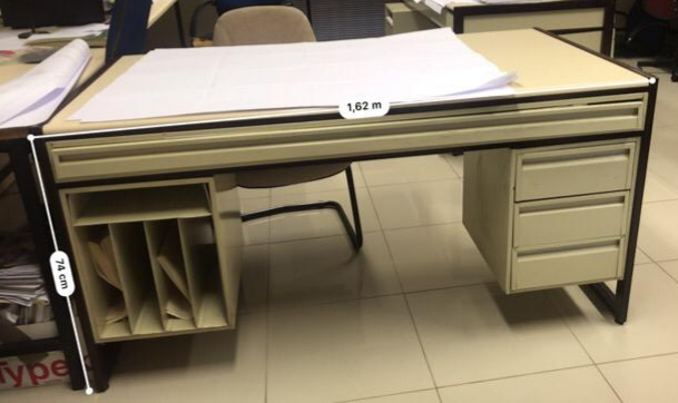 Steel and Wooden Draughtsman Table