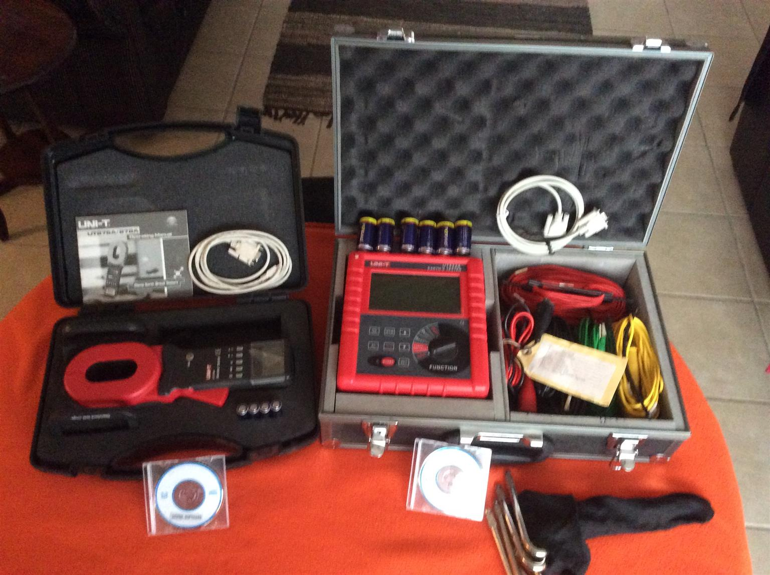 Electrical earth soil and earthing resistance test kit