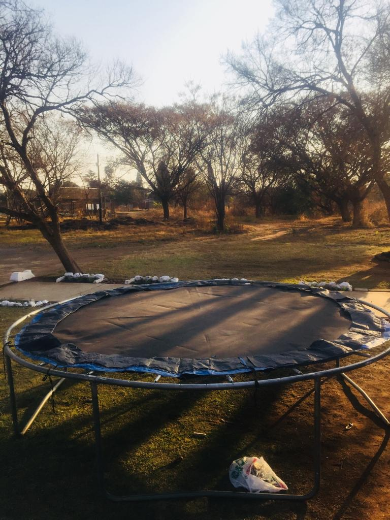 Large trampoline for hire