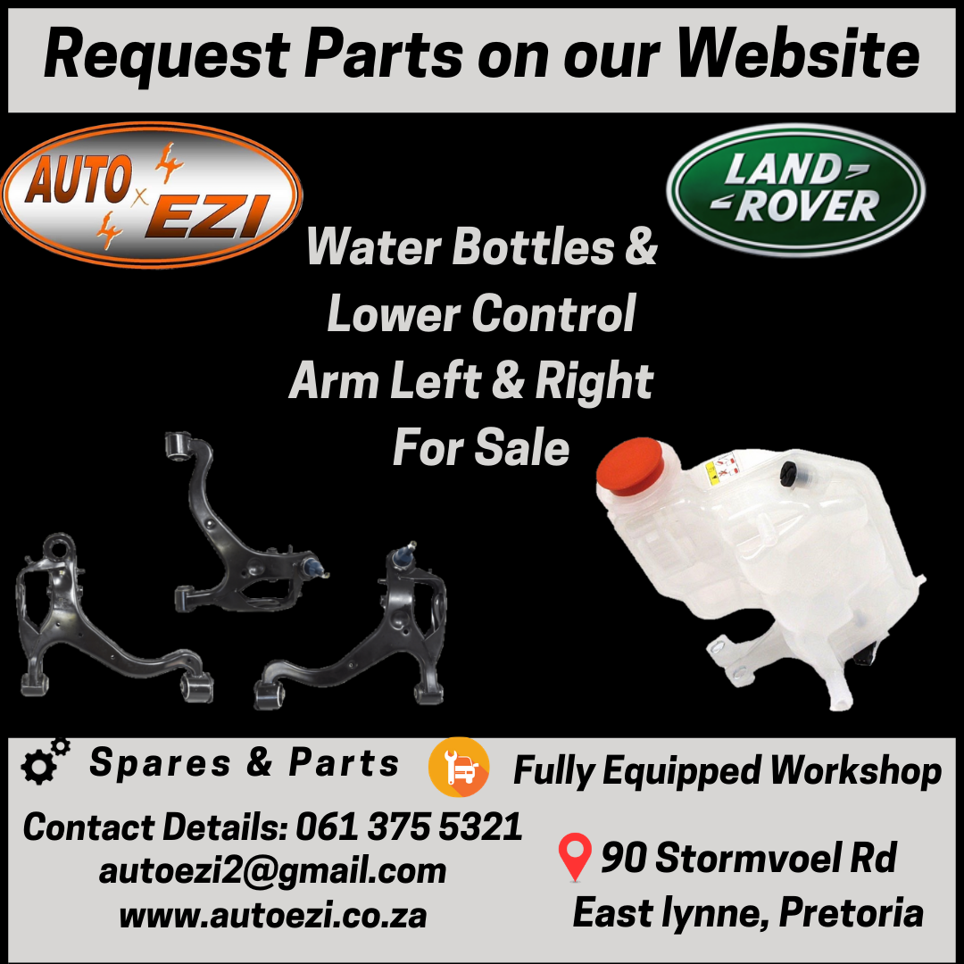 Land Rover Water Bottle & Lower Control Arms for sale