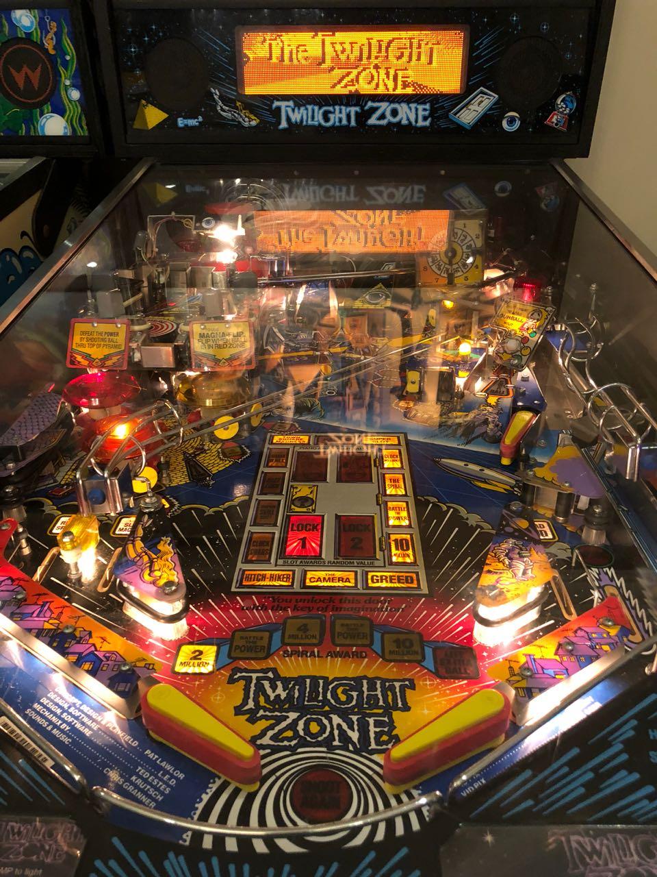 Twilight Zone Pinball Machine by Bally , a Pat Lawlor