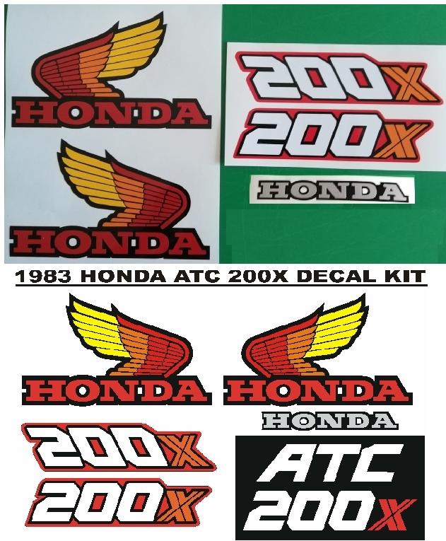 1983 ATC 200X decals stickers vinyl cut graphics