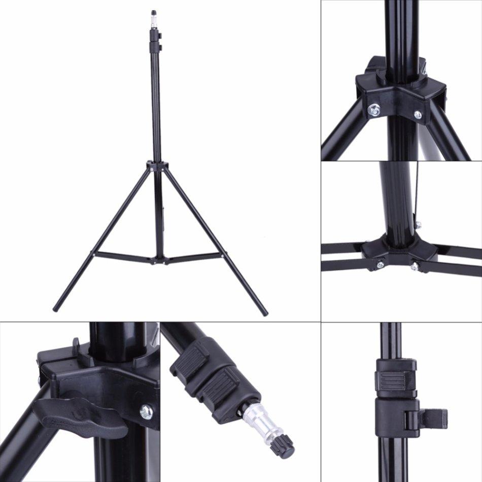 2 Meter Adjustable Light Stand Mount Holder For Photography
