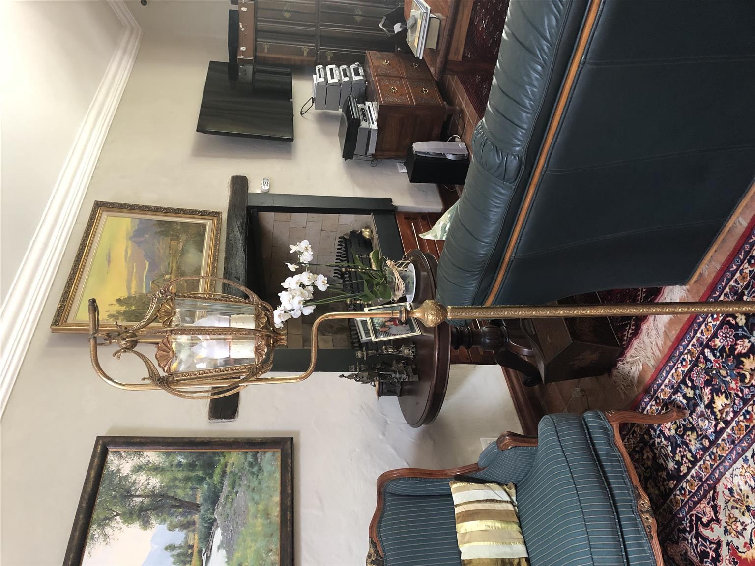 brass floor standing lamp