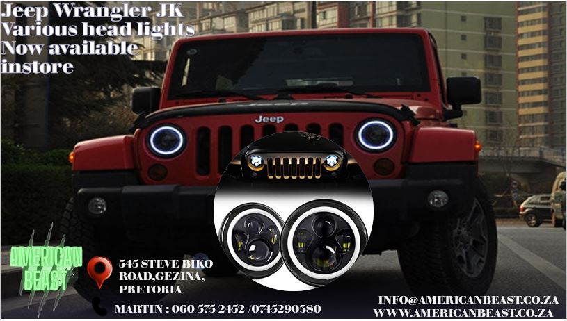 JEEP WRANGLER VARIOUS TYPES OF HEADLIGHTS AVAILABLE IN-STORE
