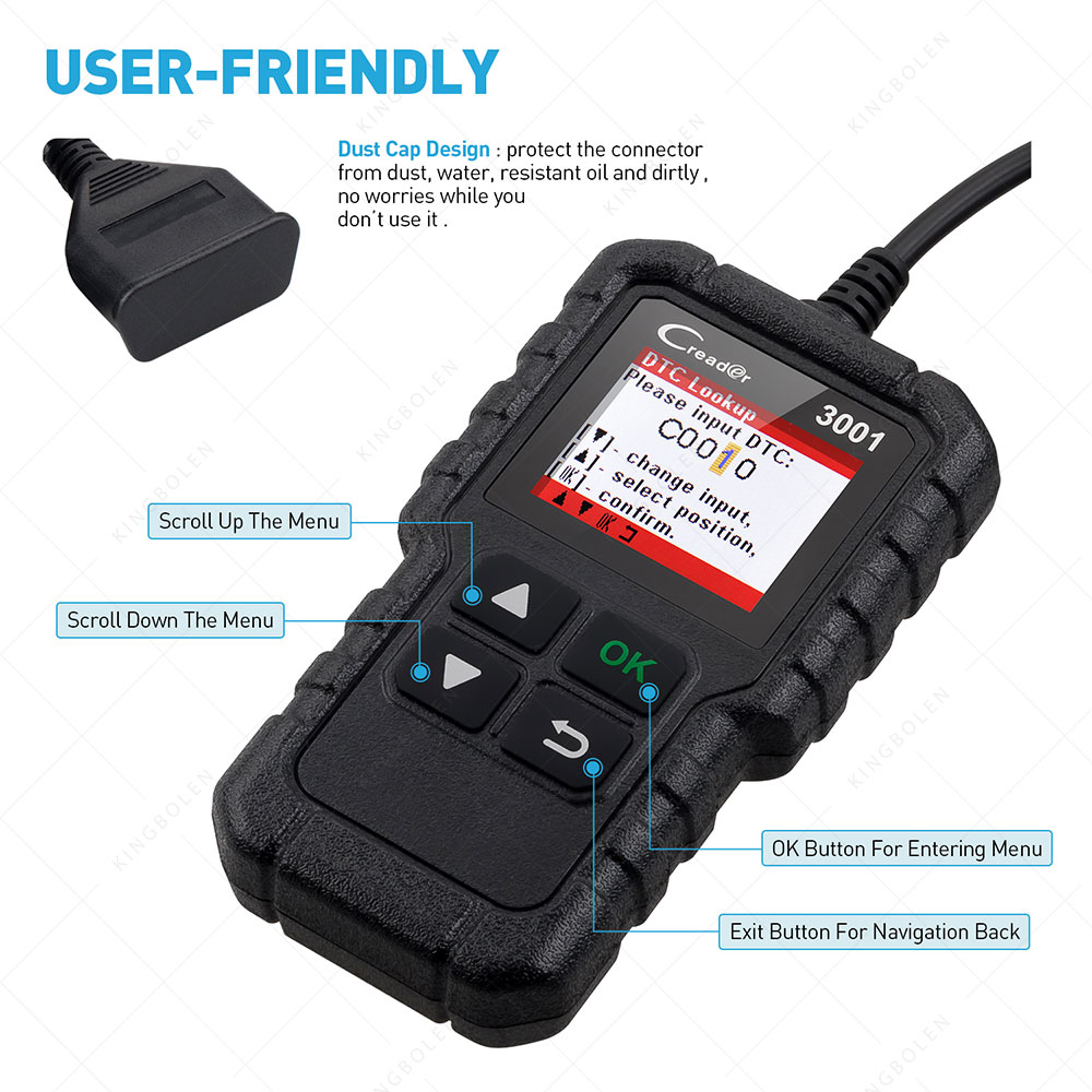 *NEW* Launch Creader 3001 Colour LCD OBDII Scanner