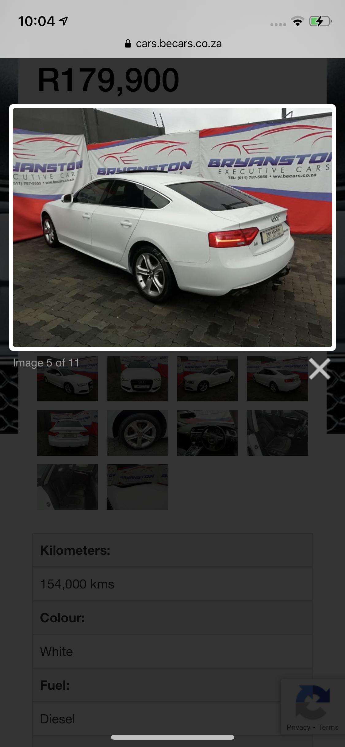 2013 Audi A5 Sportback A5 SPORTBACK 2.0 TDI STRONIC