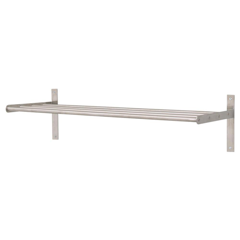 Ikea Grundtal Towel hanger / shelf unit in stainless steel - brand new