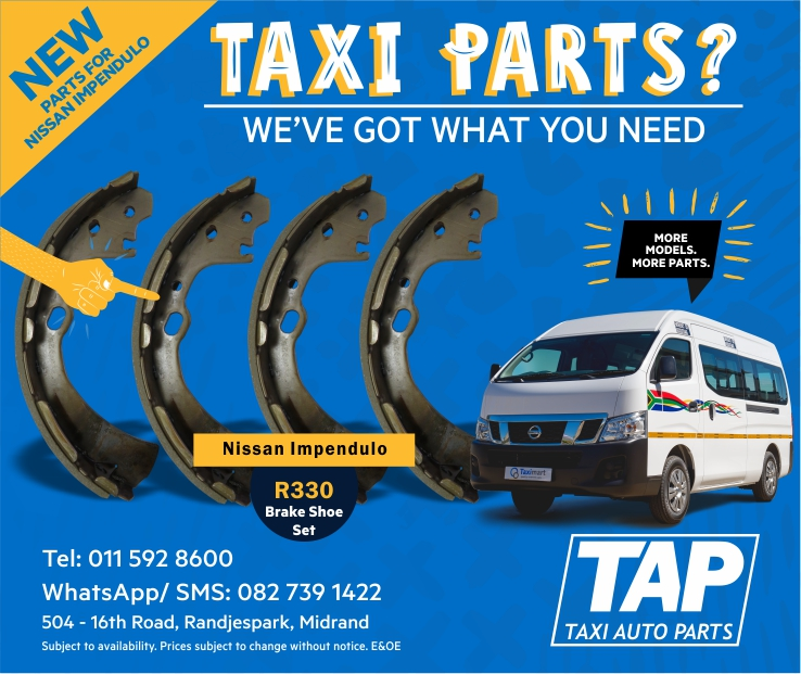 NEW parts for Nissan Impendulo - BRAKE SHOE SET - Taxi Auto Parts - TAP