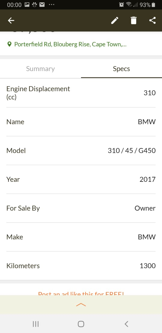 BMW G310R 2017 1300km