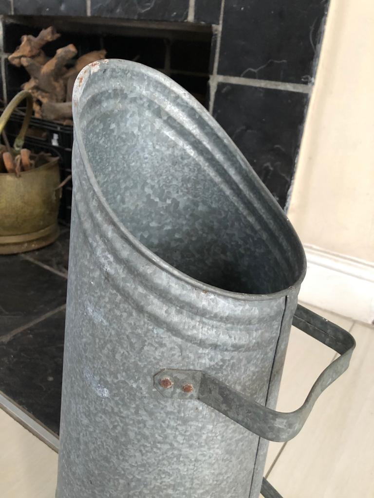 Vintage Coal Scuttles - keep your fireplace ready with a supply of coal - 2 to choose from