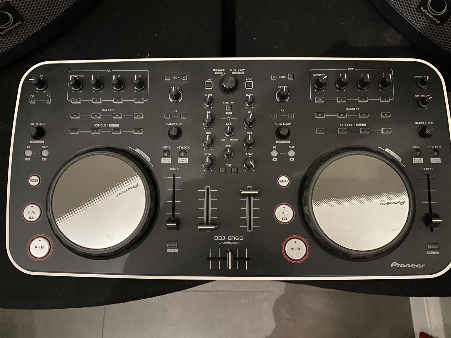 Speakers and DJ equipment
