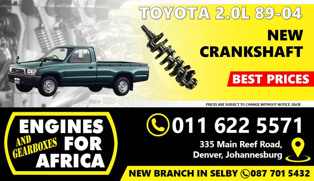 New Toyota Hilux 1RZ 2.0L 89-04 Crankshaft FOR SALE