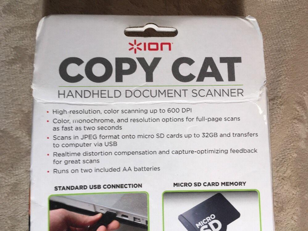ION Copy Cat Handheld Document Scanner