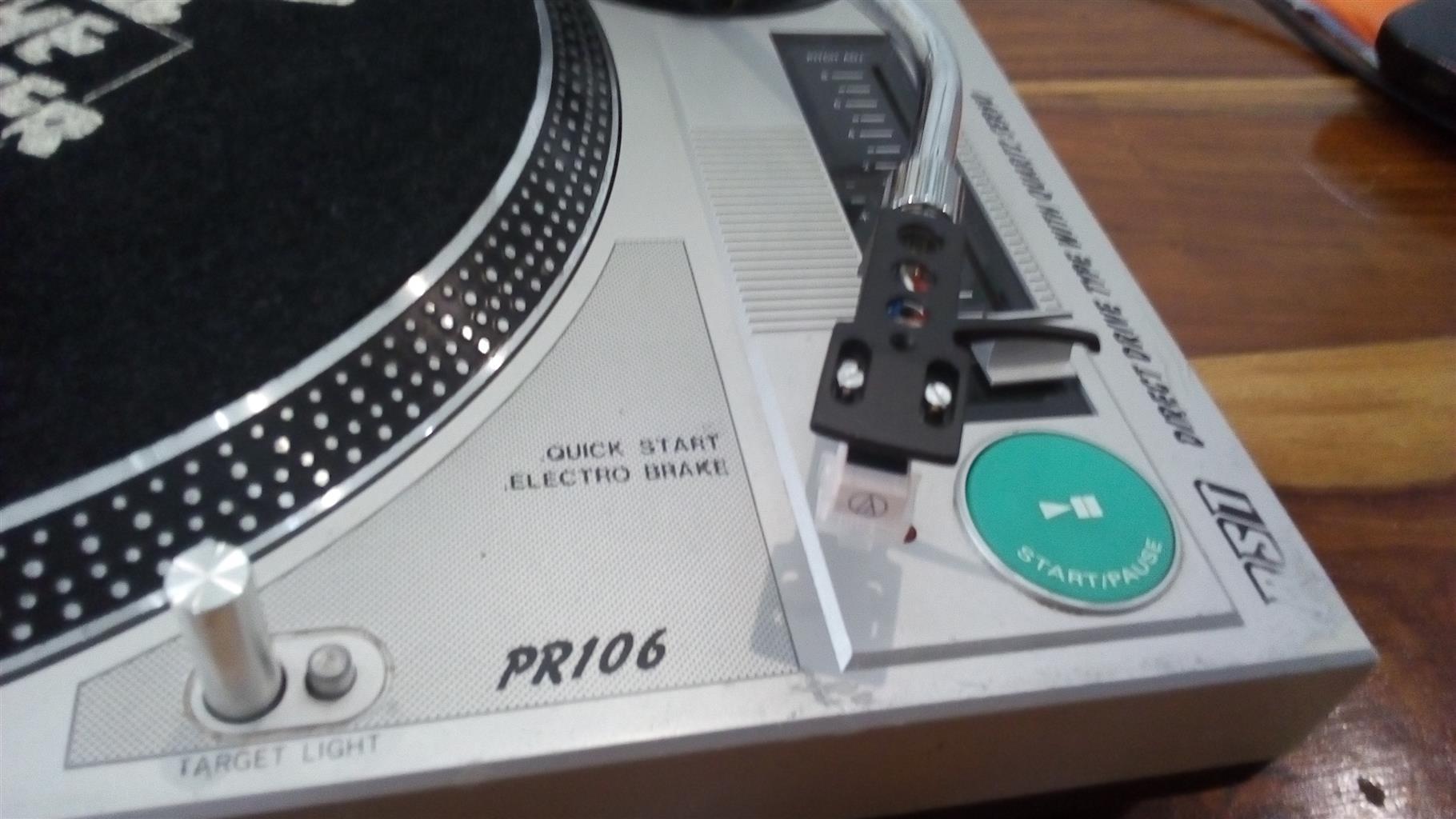 BST PR 106 Direct Drive DJ Turntable set