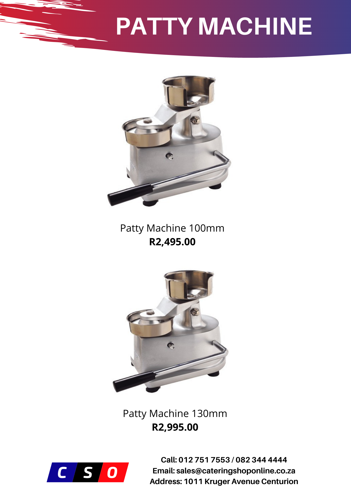 Patty Machines for sale