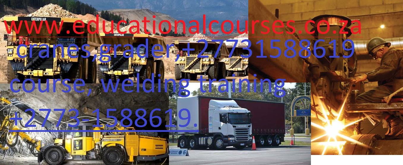 LHD SCOOP. Grader, dump trucks.  0817442541# welding training, boilermaker, plumbing, co2,argon trade test.