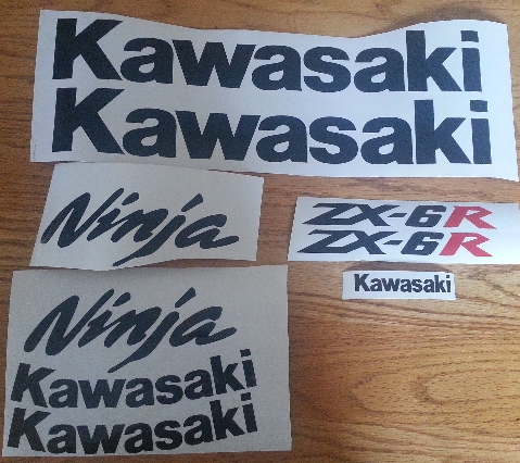 2005 Kawasaki  ZX 6R 636 motorcycles stickers decals graphics.