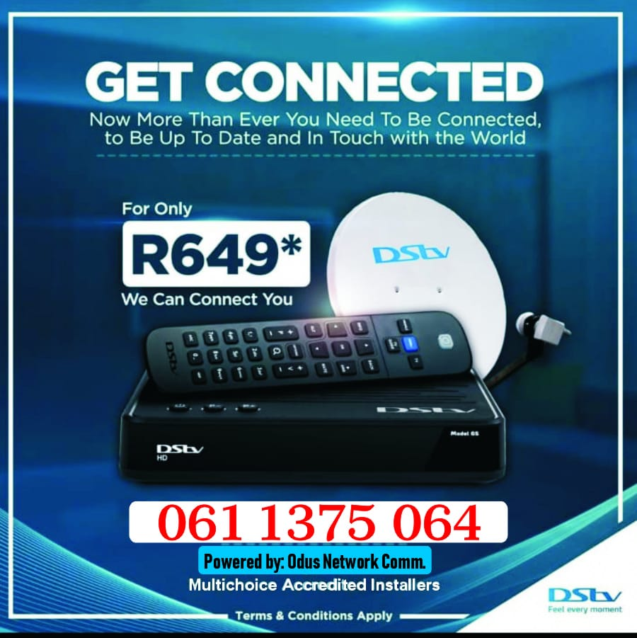 Fully Installed DSTV HD decoder plus Dish and 10mitres cables