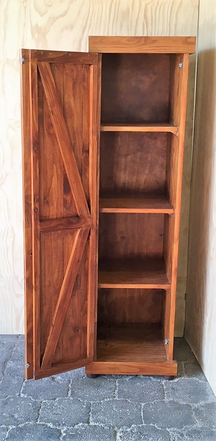 Kitchen Cupboard Farmhouse series Free standing 1750 with 1 door - Stained