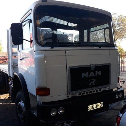 MAN brick truck