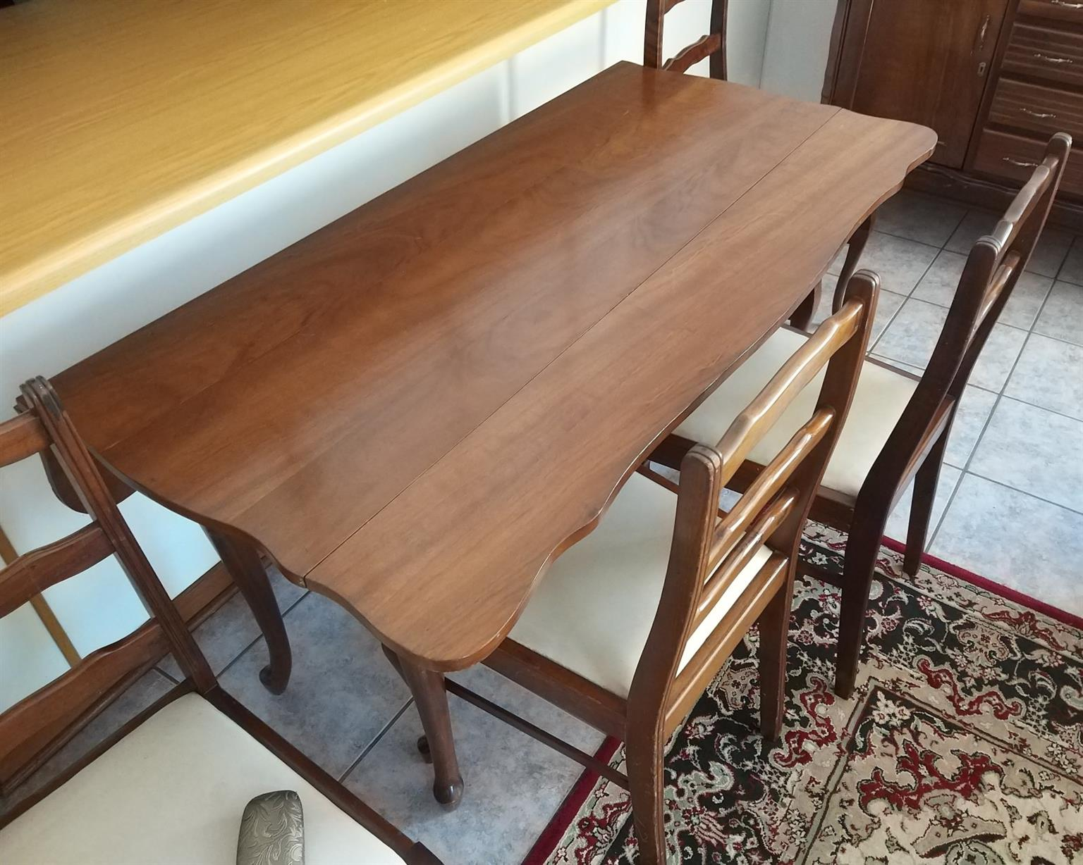 Small Dining table, 4 chairs and buffet